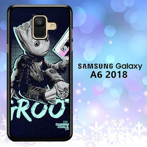 Custodia Cover samsung galaxy A6 2018 Cute Baby Groot L3112 Case