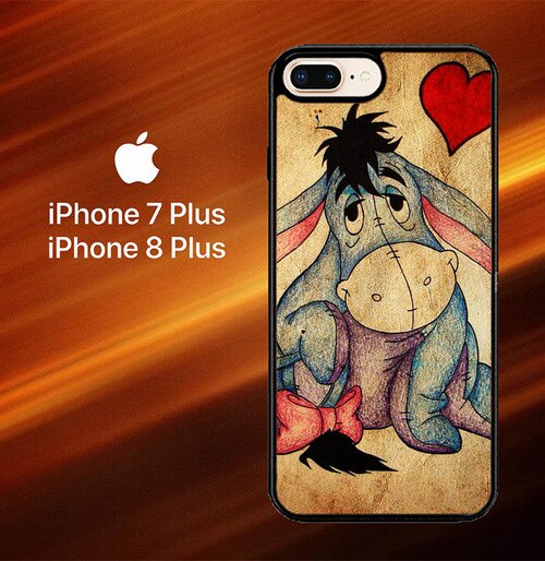 Custodia Cover iphone 7 plus 8 plus eeyore wallpaper Y0311 Case