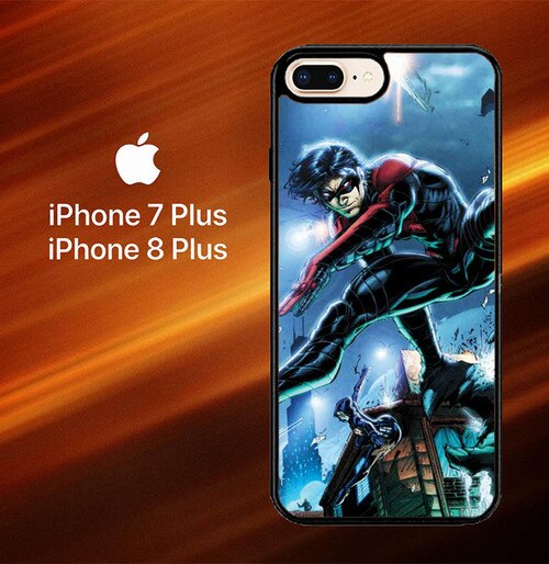 Custodia Cover iphone 7 plus 8 plus Nightwing Wallpaper Y0321 Case