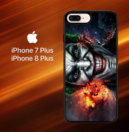 Custodia Cover iphone 7 plus 8 plus Batman Joker Wallpaper Y0469 Case