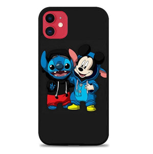 Custodia Cover iphone 11 pro max stitch and mickey mouse W8798 Case