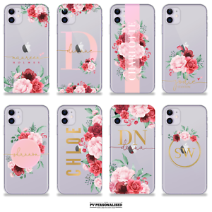 Personalizzato iniziali in silicone Telefono CASE COVER PER APPLE IPHONE XR  7 8