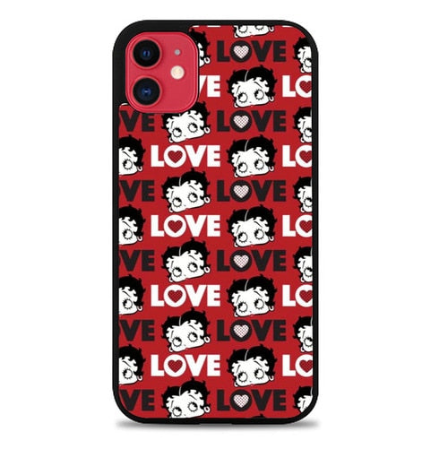 Custodia Cover iphone 11 pro max Betty Boop Love Cute Red P0628 Case