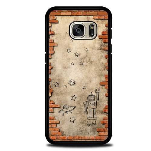 Custodia Cover samsung galaxy s7 s7 edge plus Drawing In The Wall P2000 Case