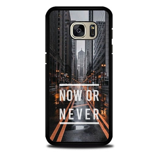 Custodia Cover samsung galaxy s7 s7 edge plus Now Or Never P2030 Case