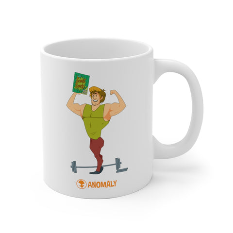 Buff Shaggy White Ceramic Mug