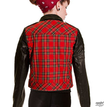 Load image into Gallery viewer, Banned Red Tartan Faux Leather Jacket