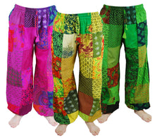 Load image into Gallery viewer, Patchwork Harem Trousers - RED