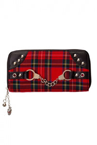 RED TARTAN HANDCUFF PURSE