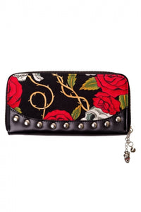 SKULLS AND ROSES PURSE