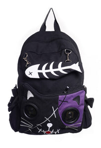 Kitty Speaker Backpack - Purple