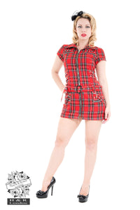 Red Tartan Emo Punk Dress