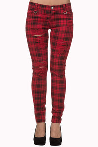 CROSS CAMEO TROUSERS - RED
