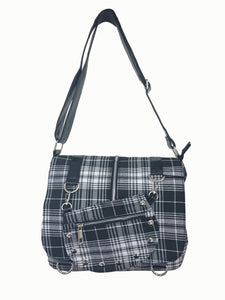 White Tartan Messenger Bag