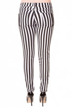 Load image into Gallery viewer, STRIPE SKINNY JEANS – B + W