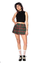Load image into Gallery viewer, Green Tartan Mini Skirt