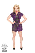 Load image into Gallery viewer, Purple Tartan Emo Punk Dress