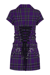 Purple Tartan Emo Punk Dress