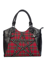 Load image into Gallery viewer, Red Tartan Pentagram Bag