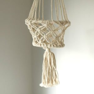 Macrame Pot Holder - Single Small Pot