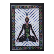 Load image into Gallery viewer, Handbrushed Cotton Wall Art - Chakra Buddha