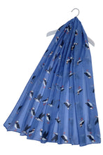 Load image into Gallery viewer, Cute Puffin Sea Bird Print Scarf – NAVY