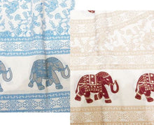 Load image into Gallery viewer, White Base Elephant Throw/Bedspread