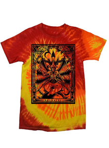 Baphomet Red and Orange Tie Dye