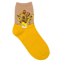 Load image into Gallery viewer, Socks - Van Gogh Sunflowers