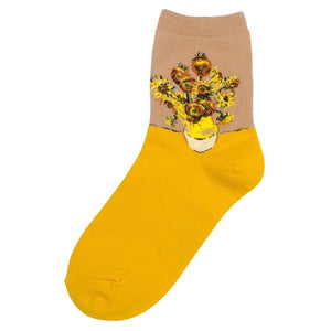 Socks - Van Gogh Sunflowers