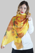Load image into Gallery viewer, Van Gogh Twelve Sunflowers Print Scarf