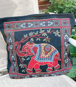 Elephant Shopping Bag - BLACK