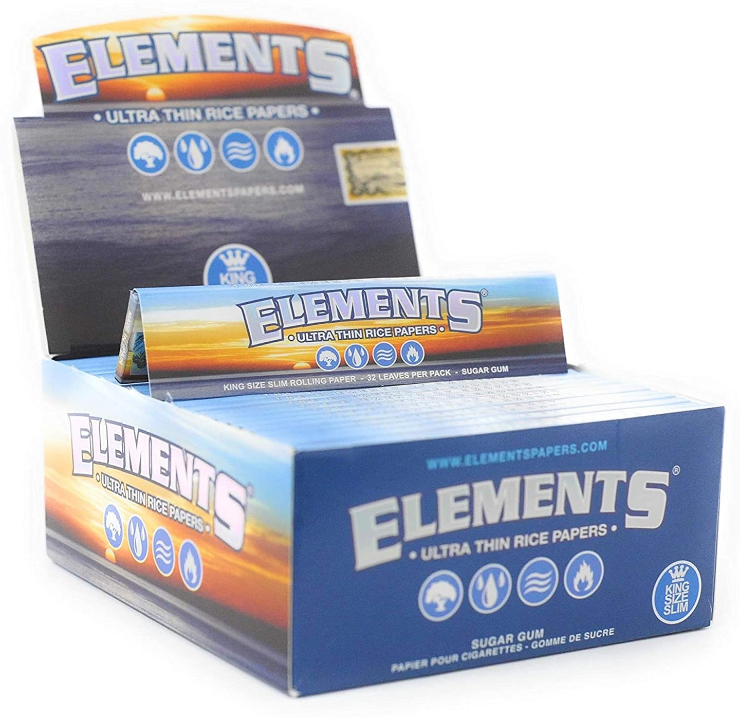 Elements Ultra Thin Kingsize Rice Papers