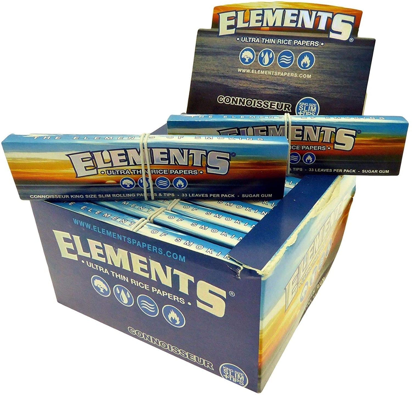 Elements Ultra Thin King Size Rice papers + Roach