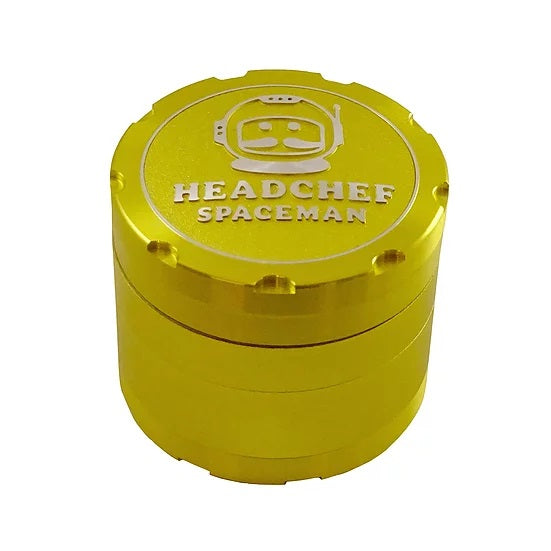HEADCHEF SPACEMAN 4 Part Grinder - 55mm – YELLOW