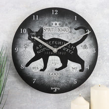 Load image into Gallery viewer, ALCHEMY BLACK CAT SPIRIT BOARD CLOCK