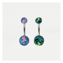Load image into Gallery viewer, Glitterball Belly Bar Acrylic