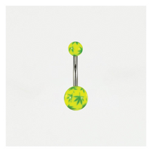 Load image into Gallery viewer, Neon Cannabis Leaf Belly Bar Acrylic