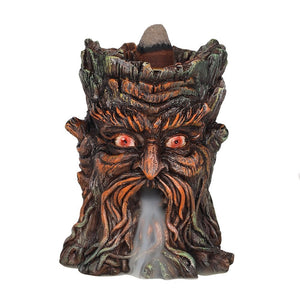 Aged Oak Tree Spirit Backflow Incense Burner