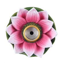 Load image into Gallery viewer, COLOURED LOTUS BACKFLOW INCENSE BURNER