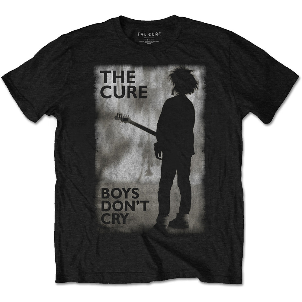 THE CURE UNISEX TEE: BOYS DON'T CRY BLACK & WHITE