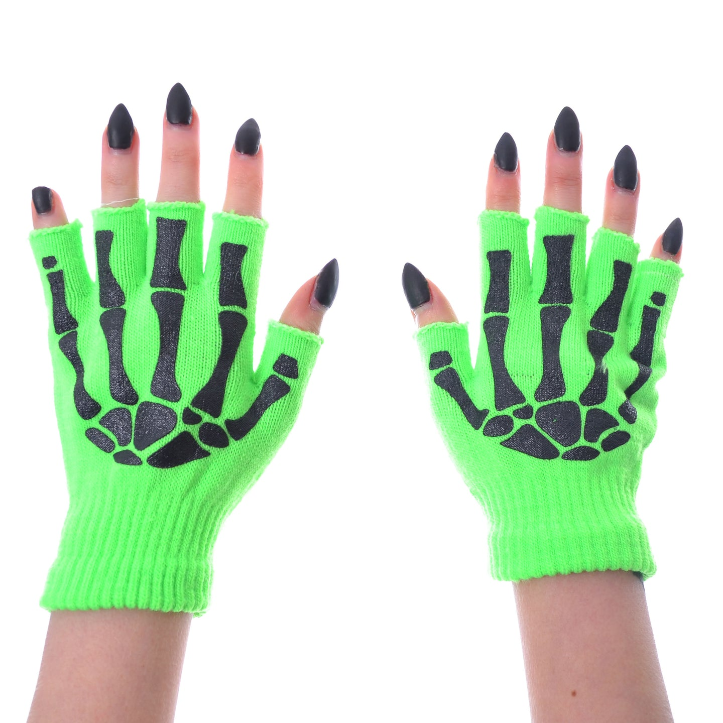 FINGERLESS GLOVES – Neon Green