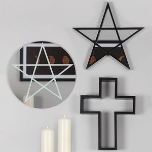 BLACK CRUCIFIX SHELF