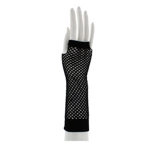 Long Fishnet Gloves - BLACK