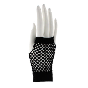 Short Fishnet Gloves - BLACK