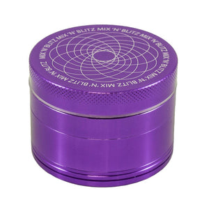 MIX N BLITZ 50mm 4 Part Grinder - PURPLE