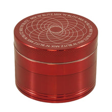 Load image into Gallery viewer, MIX N BLITZ 50mm 4 Part Grinder - RED
