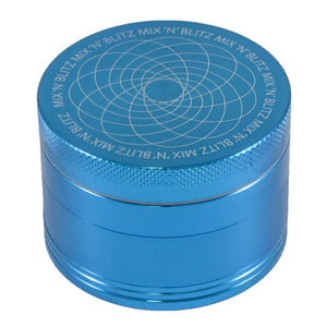 MIX N BLITZ 50mm 4 Part Grinder - SAPPHIRE BLUE