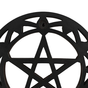 BLACK WOODEN PENTAGRAM WALL ART