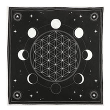 Load image into Gallery viewer, MOON PHASE CRYSTAL GRID ALTAR CLOTH